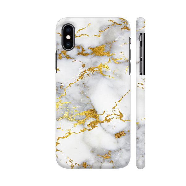 White And Gold Marble Print 2 iPhone XS Max Cover | Artist: UtART