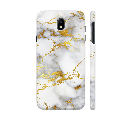 White And Gold Marble Print 2 Samsung J7 Pro Cover | Artist: UtART