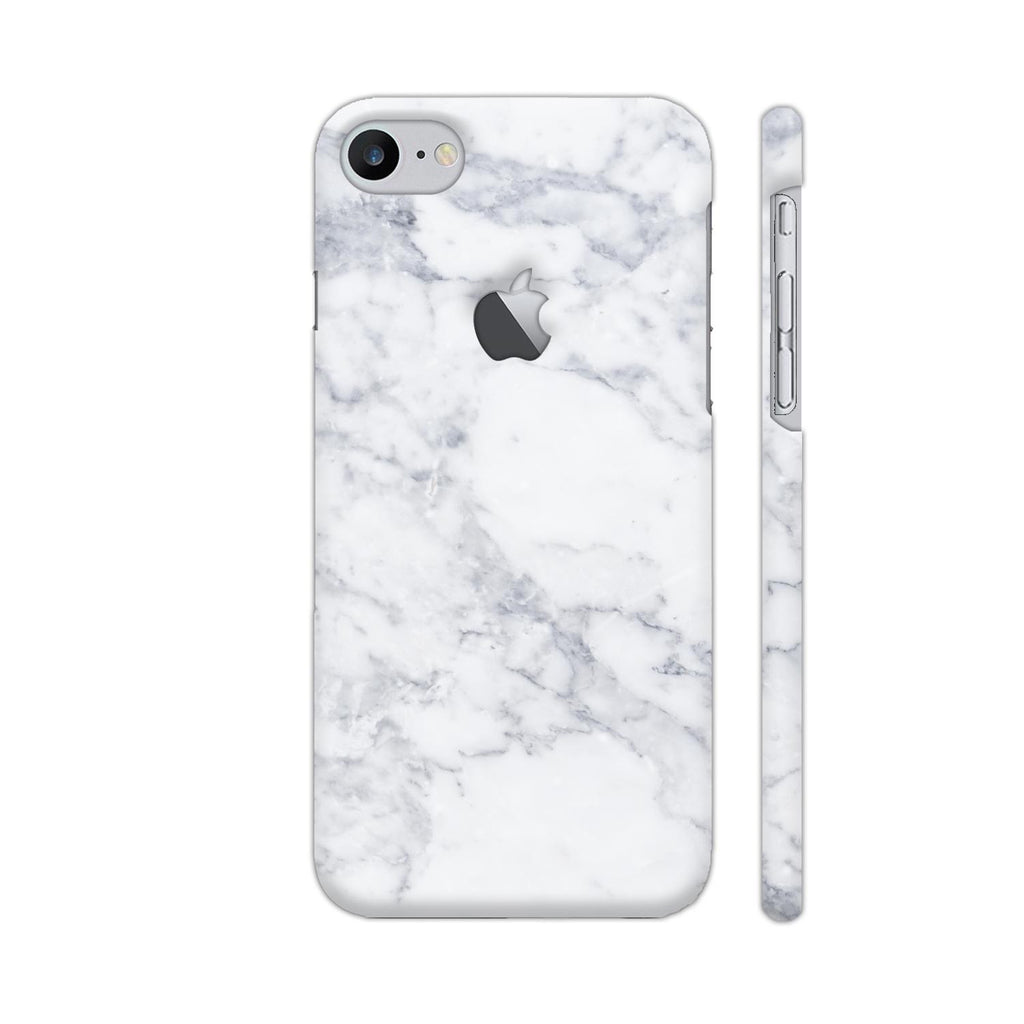 the best attitude ad0d3 d3bfc White Marble iPhone 7 Logo Cut Cover | Artist: Abhinav