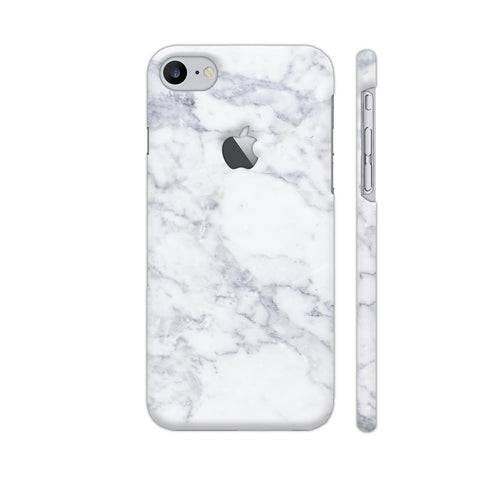 White Marble iPhone 7 Logo Cut Cover | Artist: Abhinav