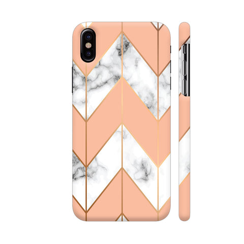 White Marble Arrows iPhone X Cover | Artist: Manju NK
