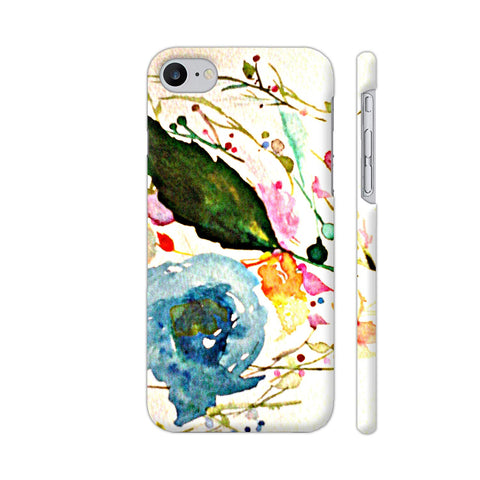 White Watercolor Floral Illustration Apple iPhone 7 Case
