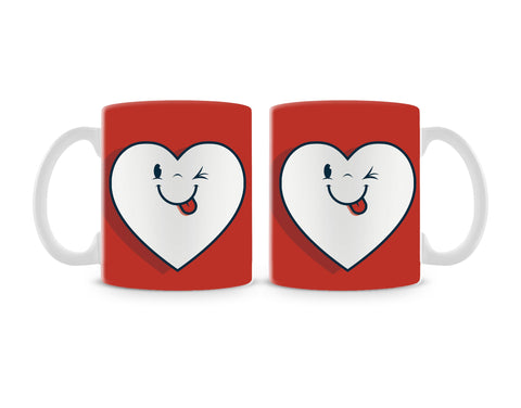 Winking Heart Mug (Set of 2)