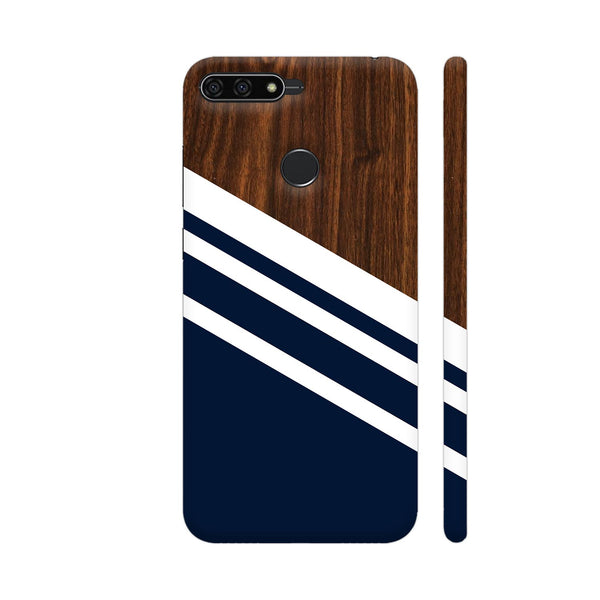 Wooden Slices Blue Honor 7A Cover | Artist: Abhinav