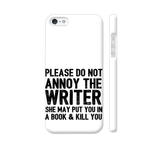 Writer Will Kill You iPhone SE Cover | Artist: Nehal