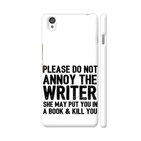 Writer Will Kill You OnePlus X Cover | Artist: Nehal
