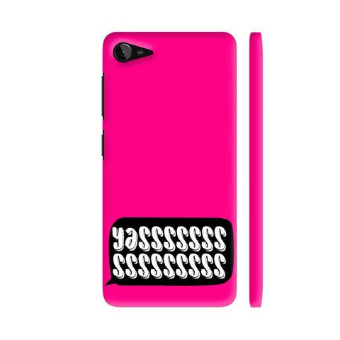 Yasss Typography On Pink Lenovo Z2 Plus Cover | Artist: Disha