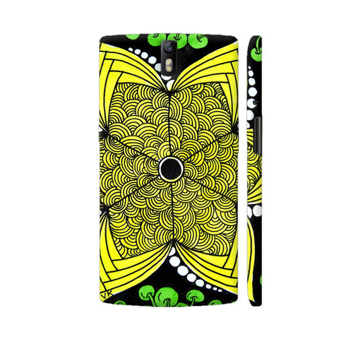 Yellow Flower Zentangle OnePlus One Case