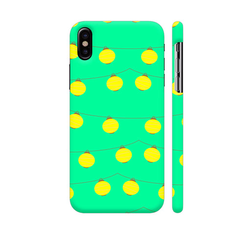 Yellow Lights Pattern iPhone X Cover | Artist: Malls
