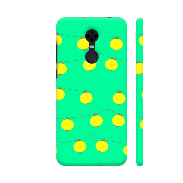 Yellow Lights Pattern Redmi Note 5 Cover | Artist: Malls