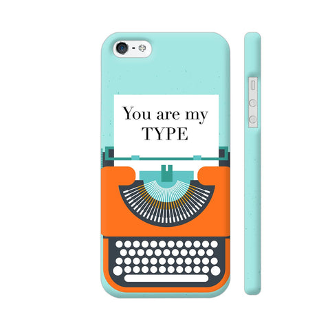 You Are My Type Typewriter iPhone SE Cover | Artist: Nehal