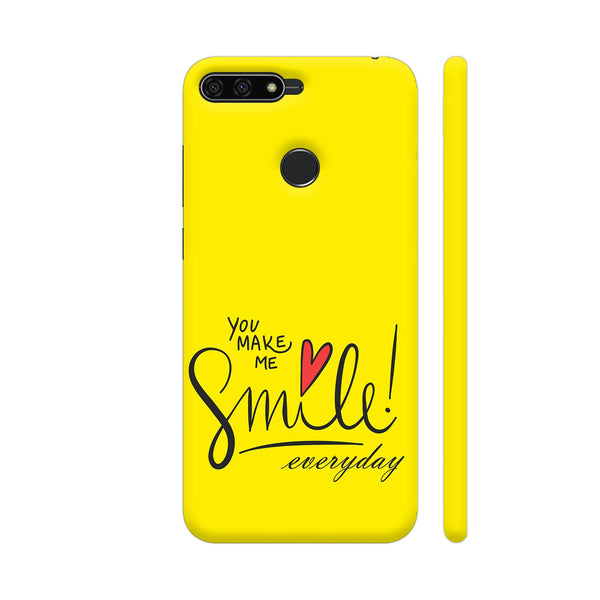 You Make Me Smile Every Day In Bright Yellow Honor 7A Cover | Artist: Astha
