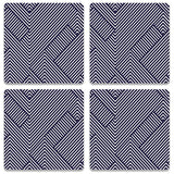 Zebra Lines Coaster (Set of 4)
