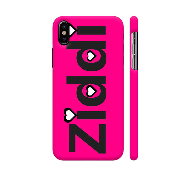 Ziddi On Pink iPhone X Cover | Artist: Malls