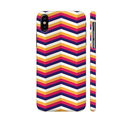 Zig Zag Pattern iPhone X Cover | Artist: Malls