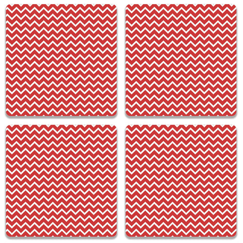 Zigzag Red Coaster (Set of 4)