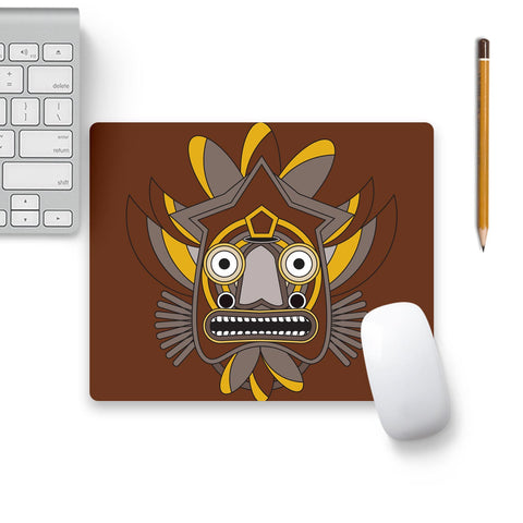 Zulu Warrior Mouse Pad Black Base | Artist: Designer Chennai