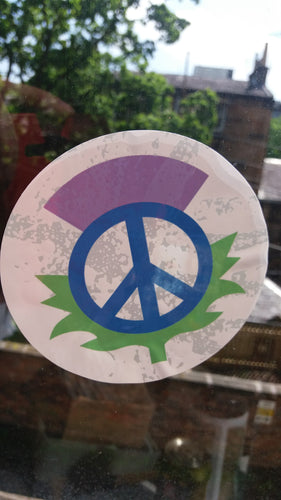 Scottish Peace  thistle car/window sticker