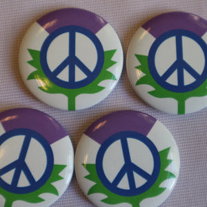 Scottish CND Thistle Badge