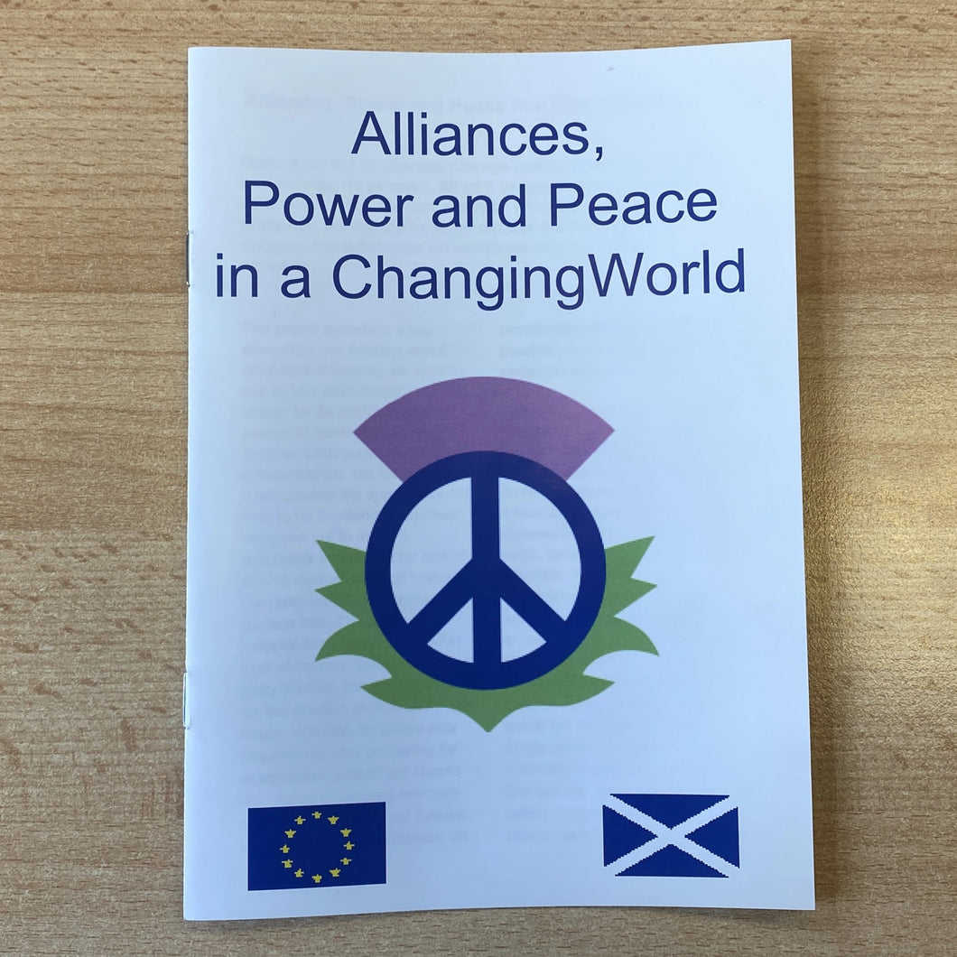 Alliances, Power and Peace in a Changing World
