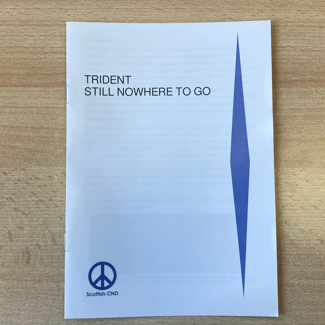 Trident: Still Nowhere to Go