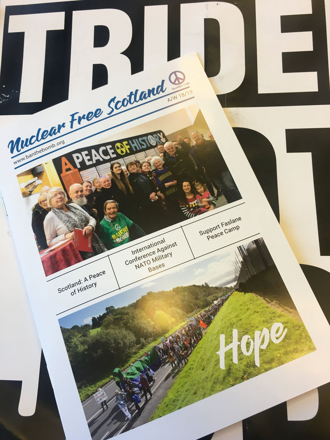 Autumn/Winter 2018/2019 Edition of Nuclear Free Scotland