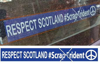 Respect Scotland - Scrap Trident car/window sticker