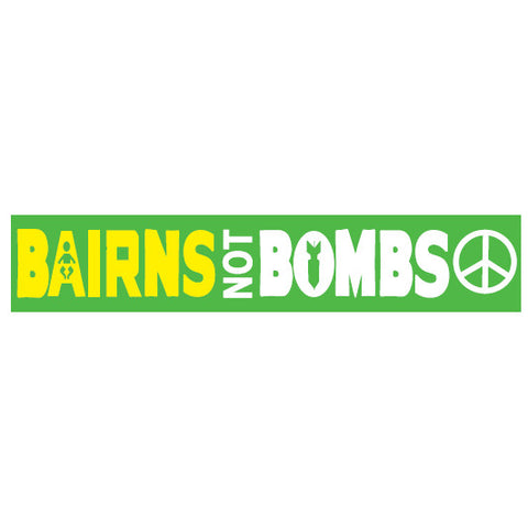 Bairns not Bombs Stickers
