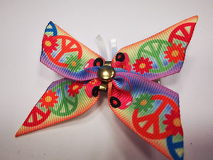 Peace Butterfly hair clips