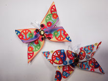 Load image into Gallery viewer, Peace Butterfly hair clips