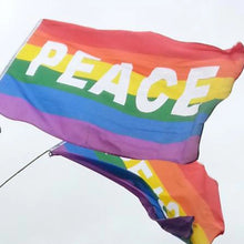 Load image into Gallery viewer, Rainbow 'Peace' Flag