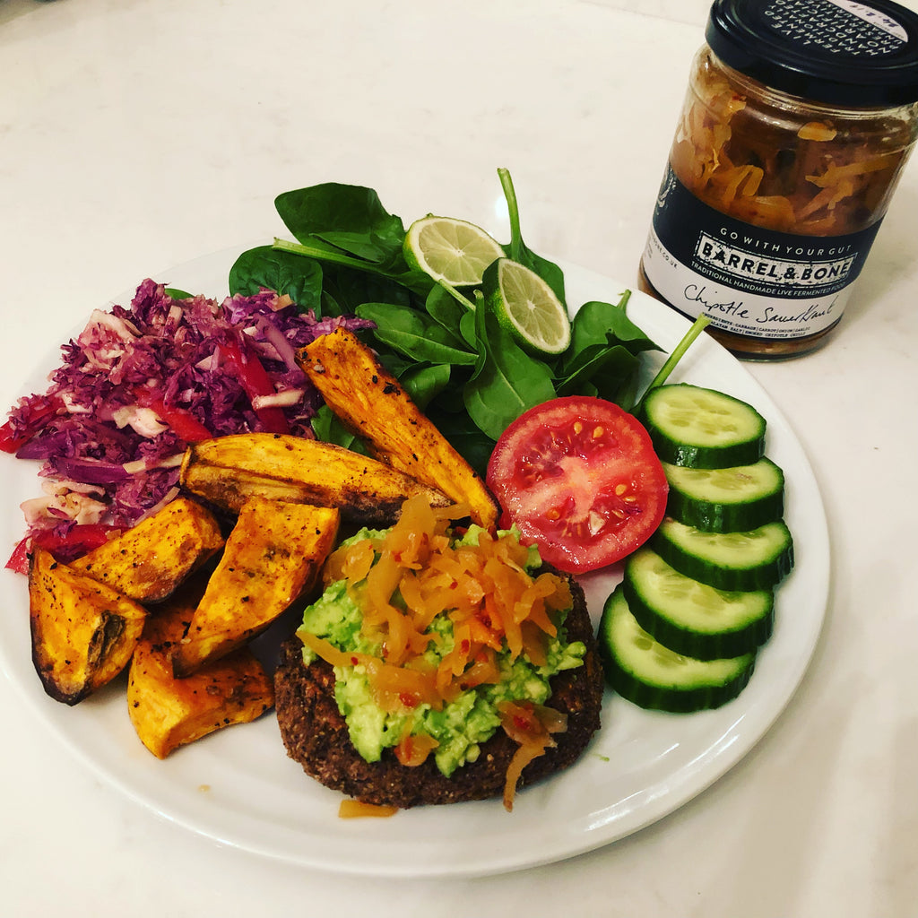 BLACK BEAN & CHIPOTLE Vegan Burgers