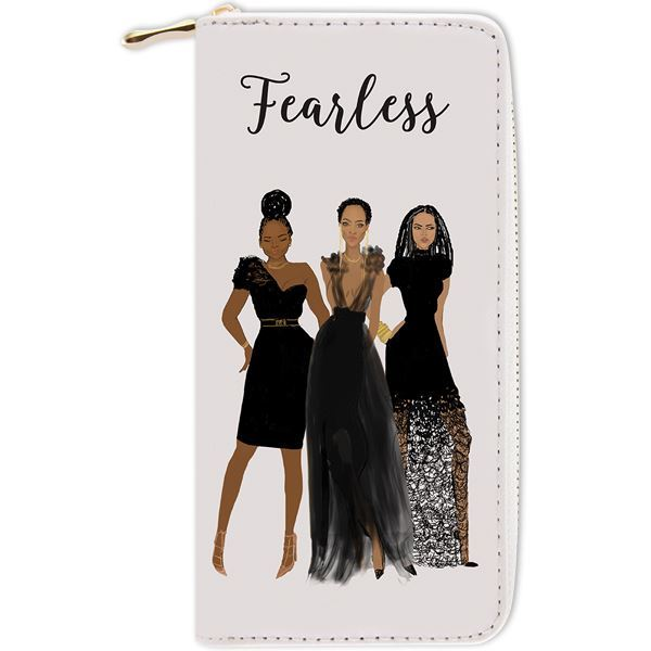 "Nicholle Kobi x AAE "" Fearless""  I Long Clutch Wallet"