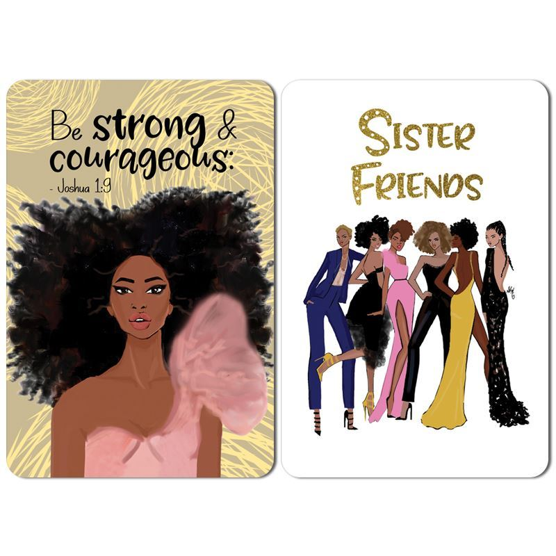 """Strong Girl / Sister Friends "" Nicholle Kobi x AAE Magnet Set"