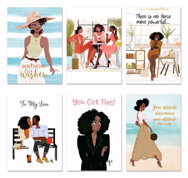 "Boxed Greeting Cards (Set of 6) - ""Girlfriends Series"""