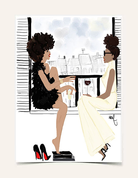 """Black Girl x Balcony"" 