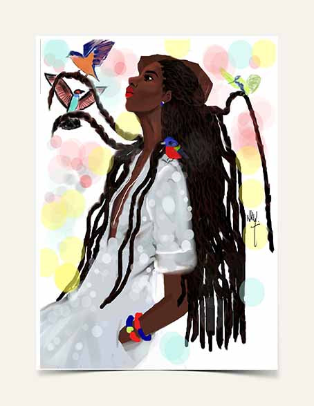 "ORIGINAL ART "" Rebeka "" 