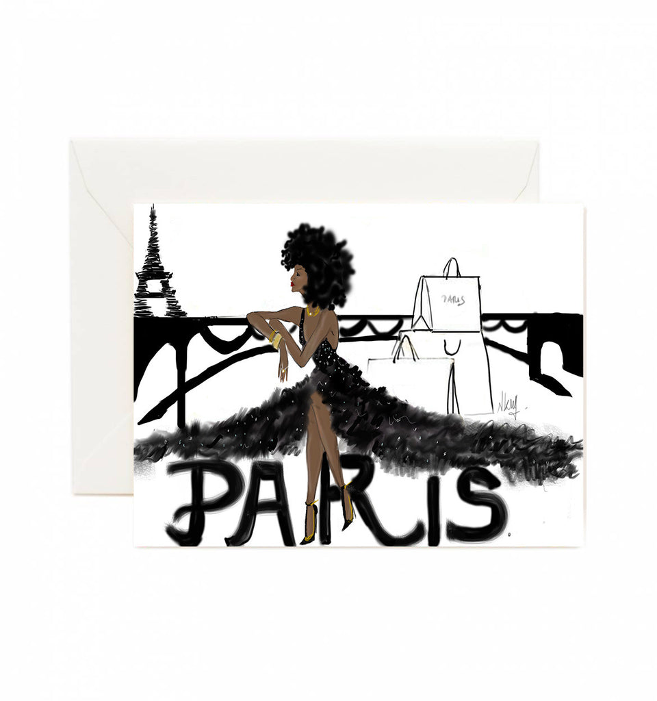 Parisian Noire Dream greeting Card
