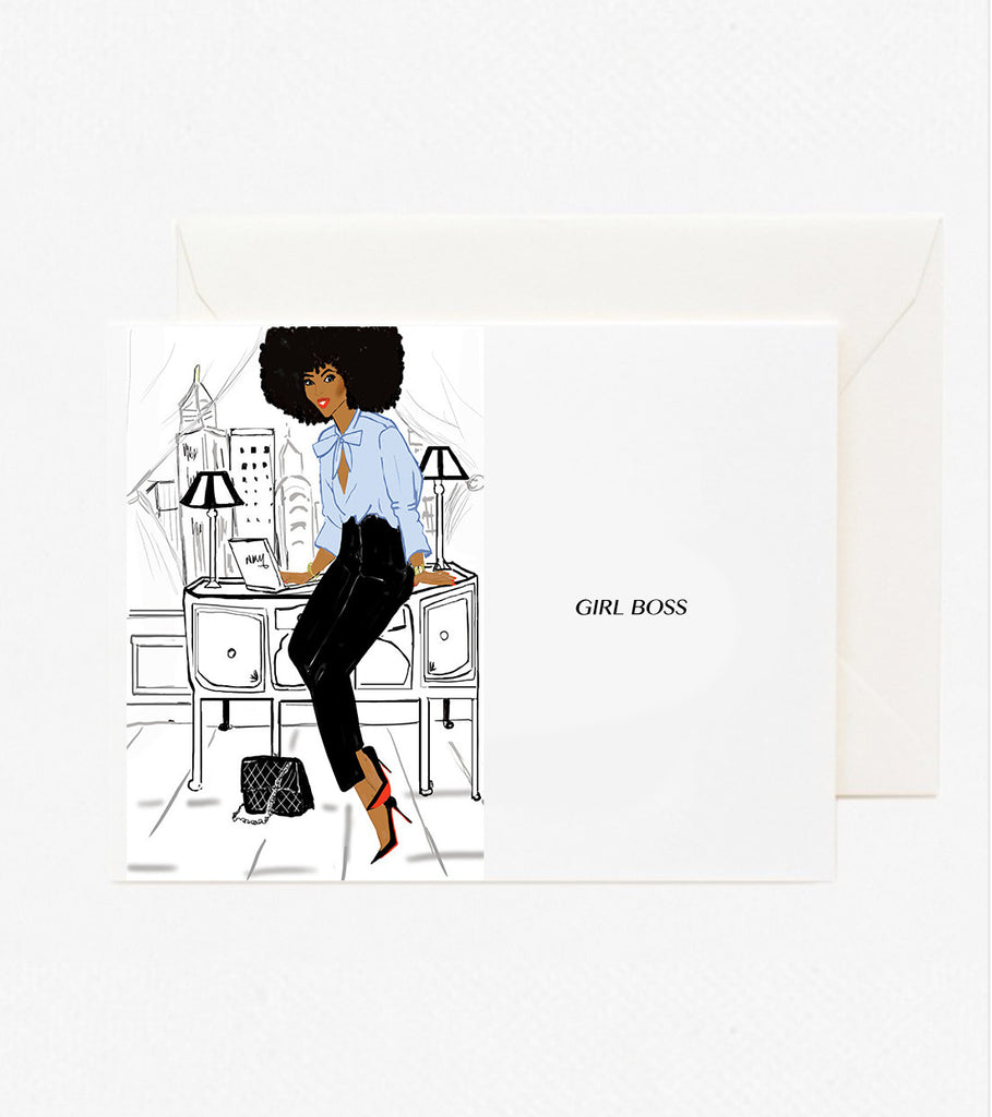 Girl Boss | Greeting Card - Nicholle Kobi