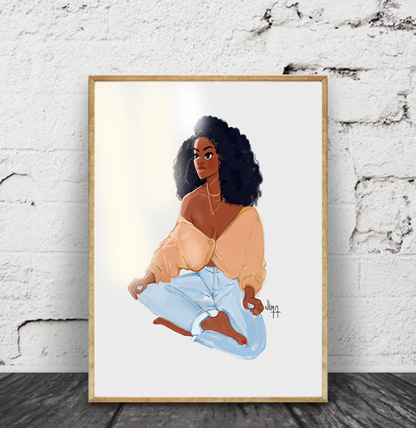 """Black Girl x Meditate "" 
