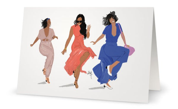 Black Girls Dance | Greeting Card - Nicholle Kobi