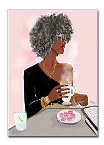Queen Grey | Greeting Card - Nicholle Kobi