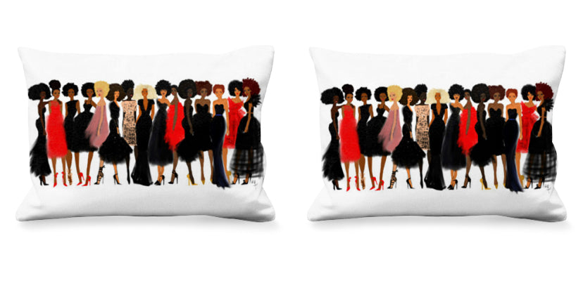 "Nicholle Kobi "" QUEENS Collection ""Lumbar Pillow"