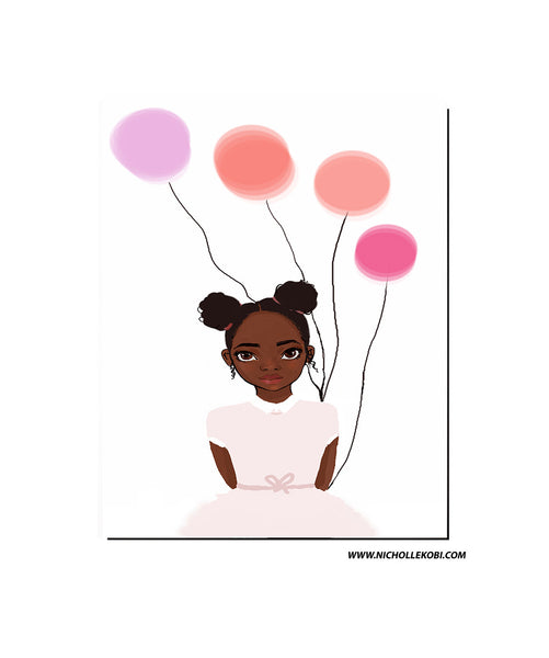 Art Print / Poster Brown Kid x Ballon - Nicholle Kobi