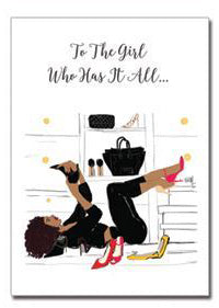 The Girl Who Has It All | Greeting Card - Nicholle Kobi