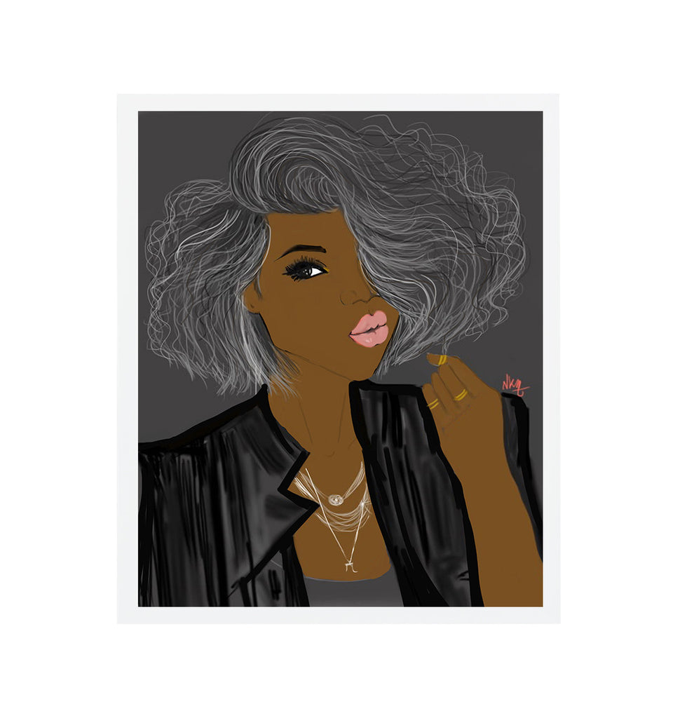 She loves Grey | Art Print - Nicholle Kobi