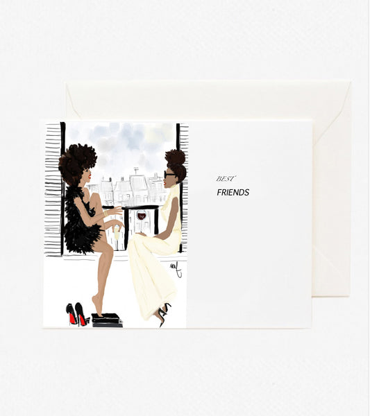 Best Friends greeting card - Nicholle Kobi