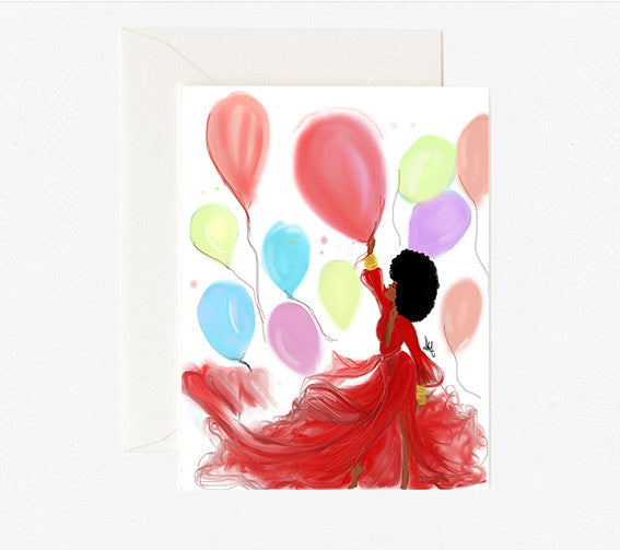 Magical Balloons | Greeting Card - Nicholle Kobi