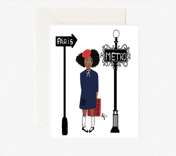 "Brown Kid card ""Little Parisienne card"" - Nicholle Kobi"