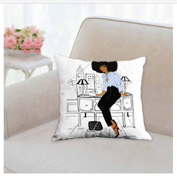 Girl Boss I Square Pillows - Nicholle Kobi